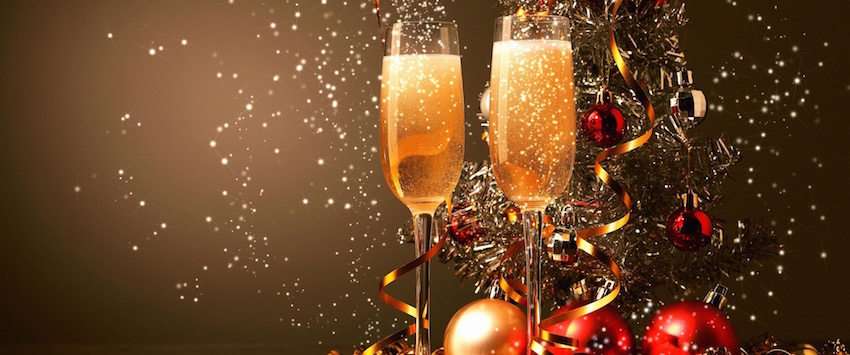Celebration champagne image for Christmas Menu